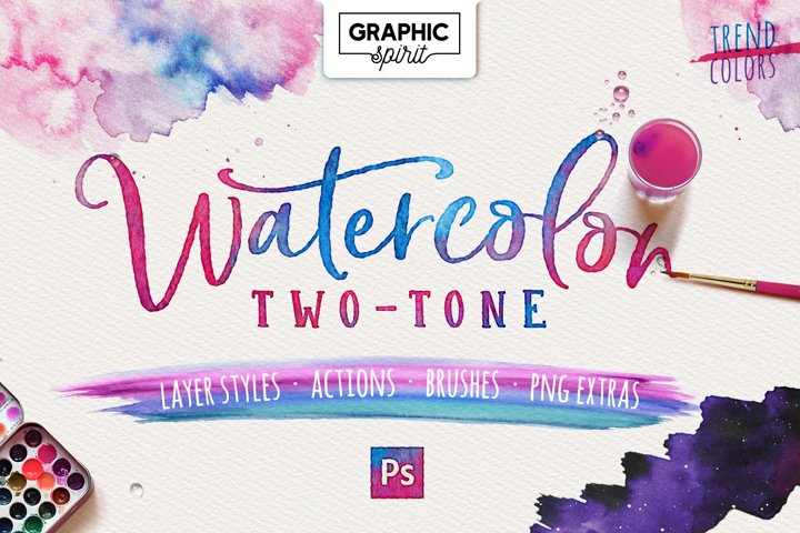 WATERCOLOR TWO-TONE Photoshop