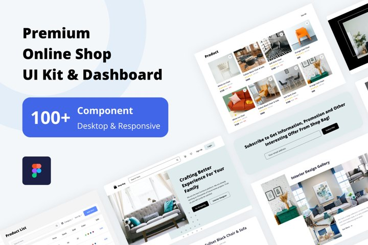 Premium Online Shop UI Kit & Dashboard