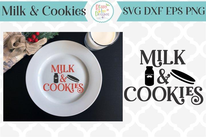 Milk and Cookies Christmas SVG