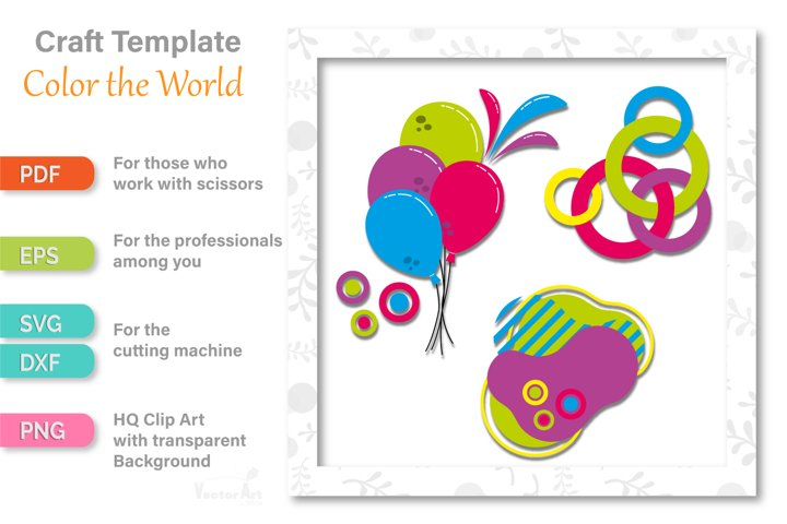 Colorful World - Cut File for Crafters