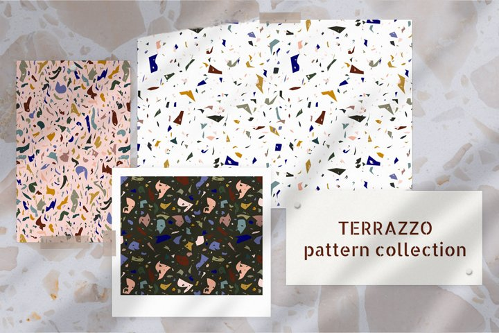 Terrazzo pattern collection.