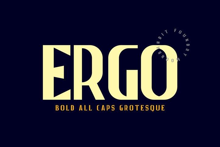 Ergo - Bold All caps grotesque