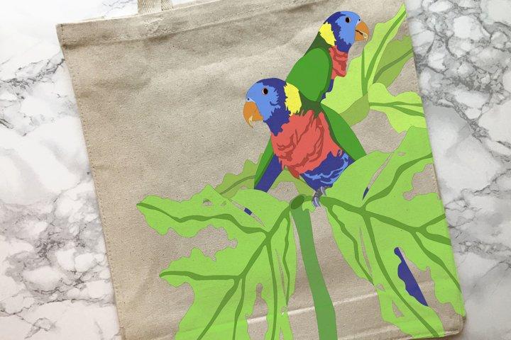 Parrot Graphics plus Parrot Coloring Page