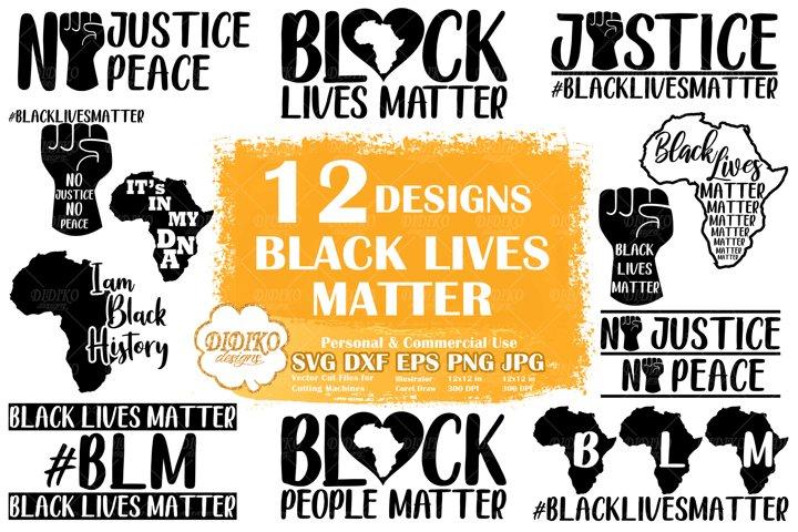 Black Lives Matter SVG Bundle | Raised Fist | Black Power