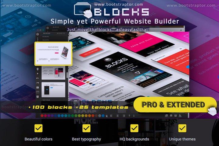 EVO BLOCKS PRO&Extended Bootstrap 3 framework