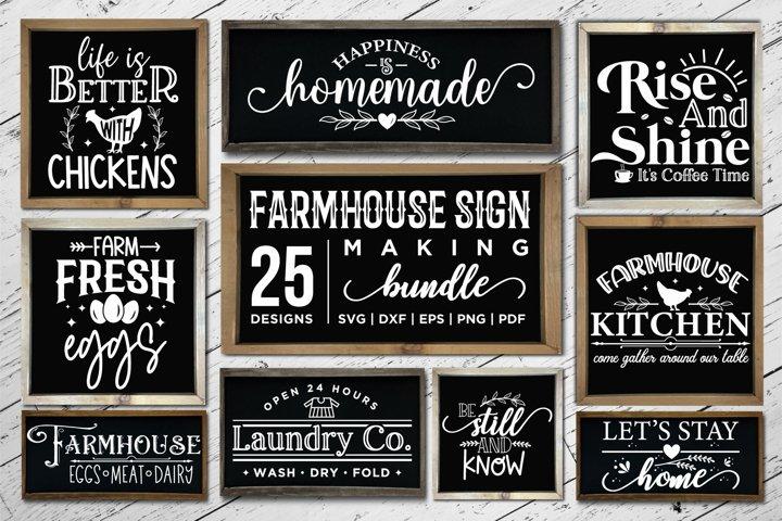 Farmhouse Sign Making Bundle SVG, 25 Farmhouse Sign SVGs