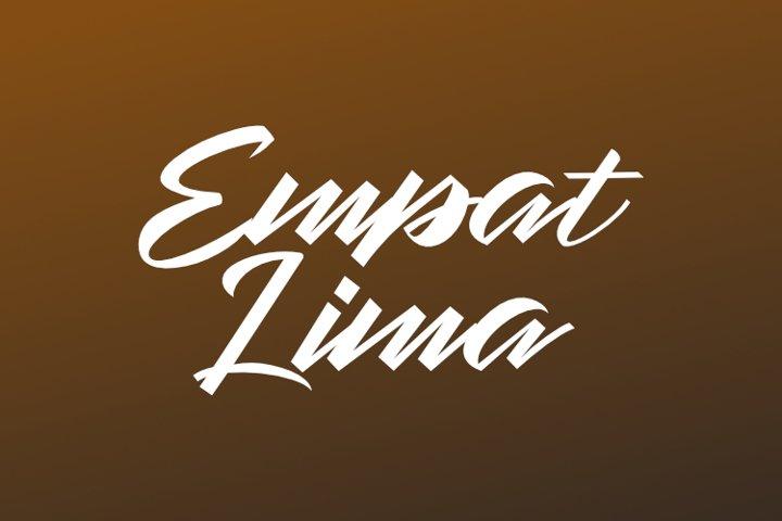 EMPATLIMA TYPEFACE example