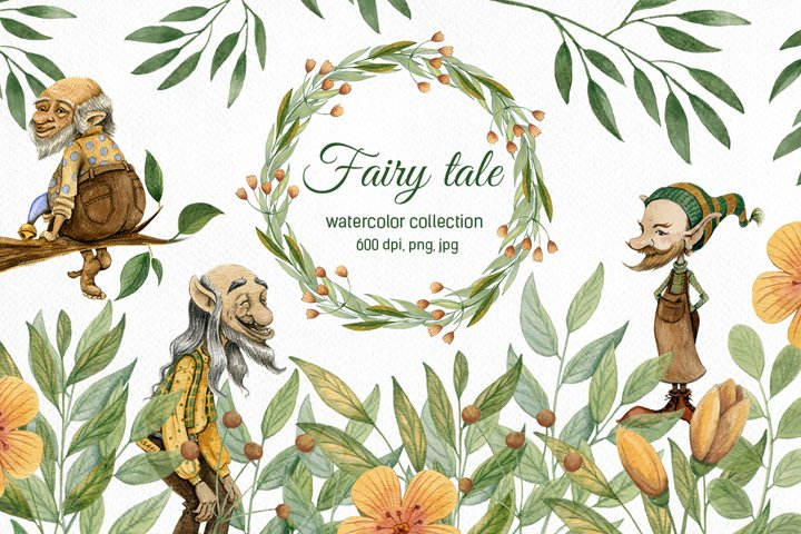 Fairy Tale. Watercolor collection
