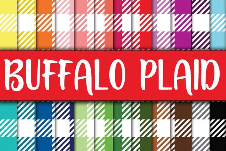 Buffalo Plaid Digital Papers