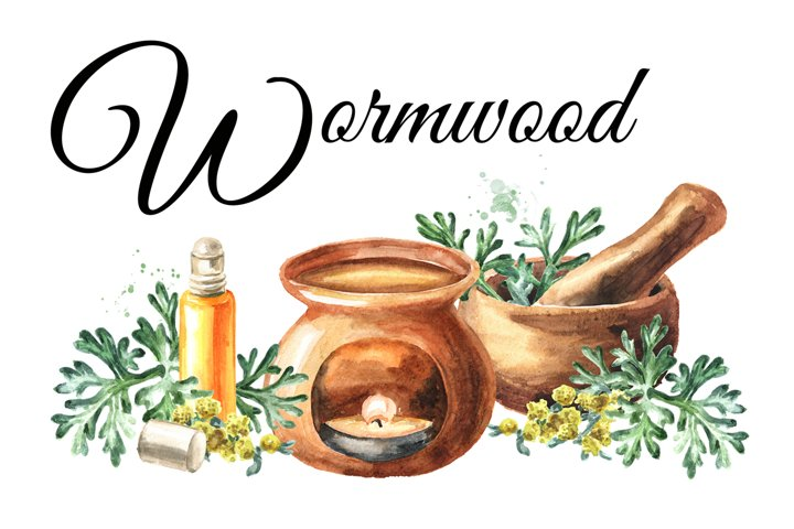 Wormwood. Watercolor collection