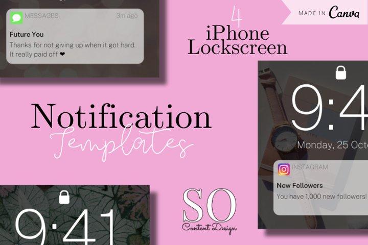 4 Editable Notification Canva Instagram Templates