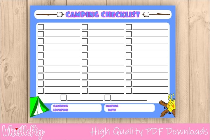 Printable Camping Checklist Camping List