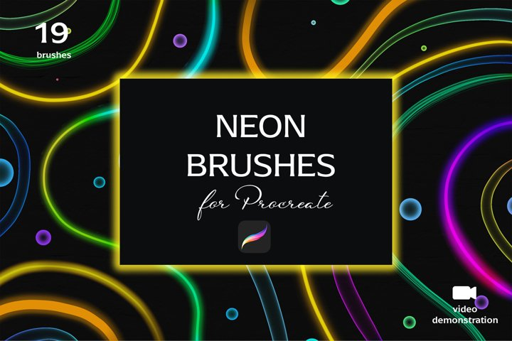 Neon brush set for Procreate