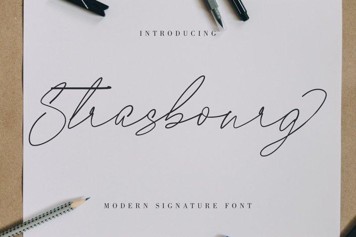 Strasbourg   Modern Signature Font