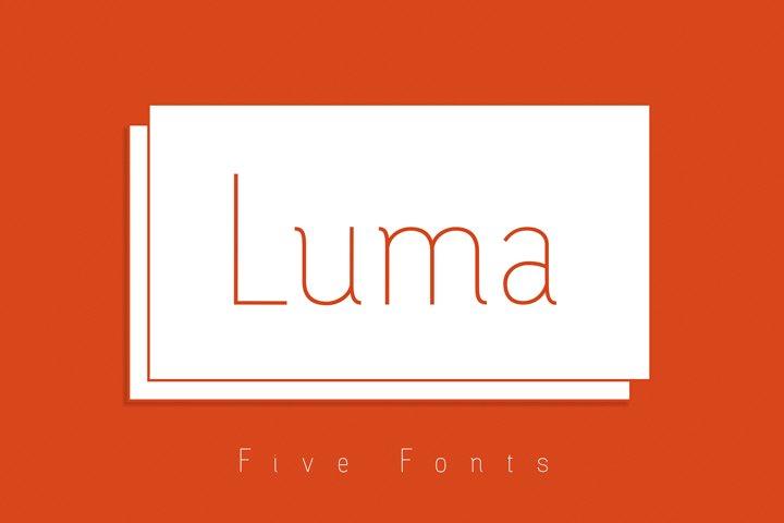 Luma - Thin Font