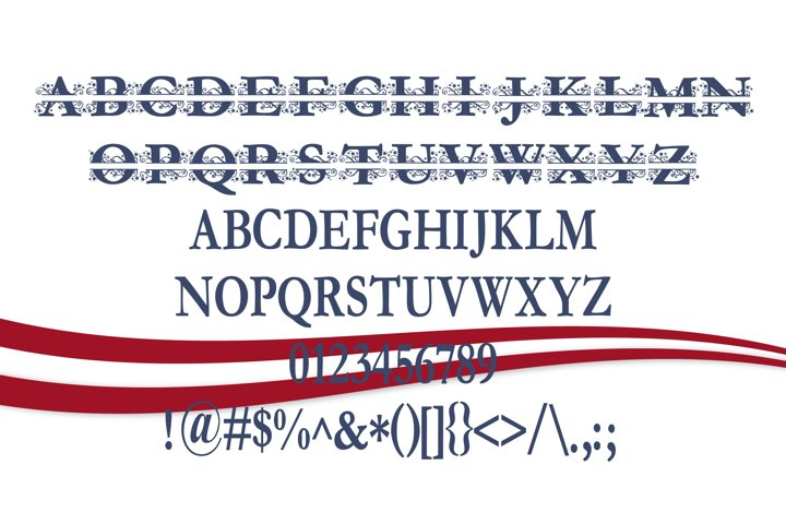 PN Stars & Swirls Monogram Banner Font - Free Font of The Week Design0