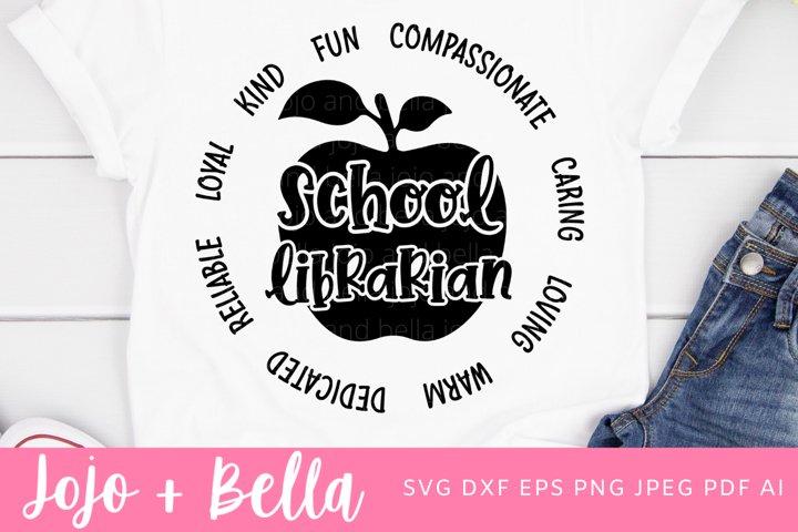 School Librarian Svg | A School Svg