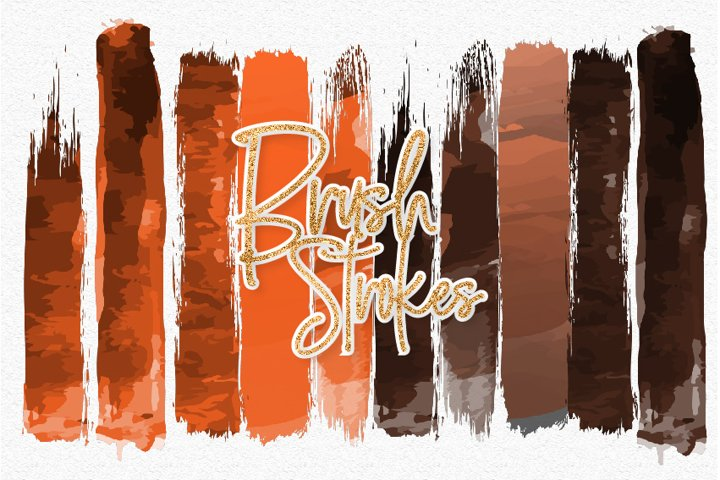 Halloween Watercolor Brush Strokes 01