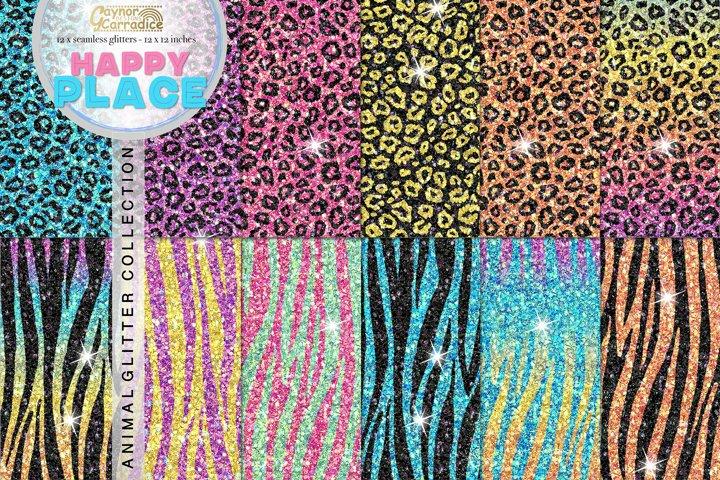 Animal print seamless Glitter backgrounds