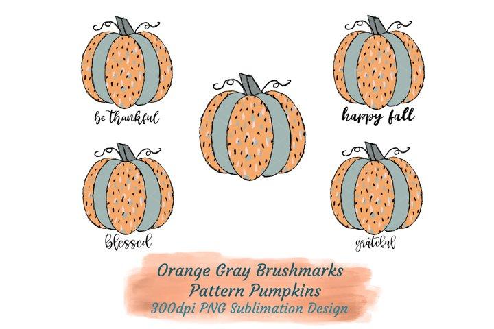 Sublimation Autumn Pumpkins Words Happy Fall Orange Sage PNG