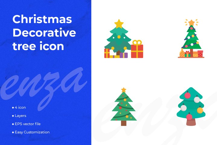 Christmas Decorative tree icon design
