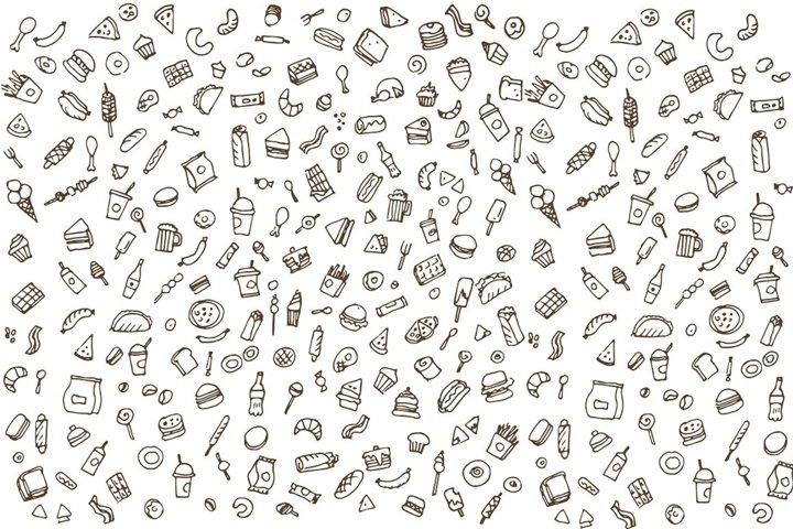Fast food doodles