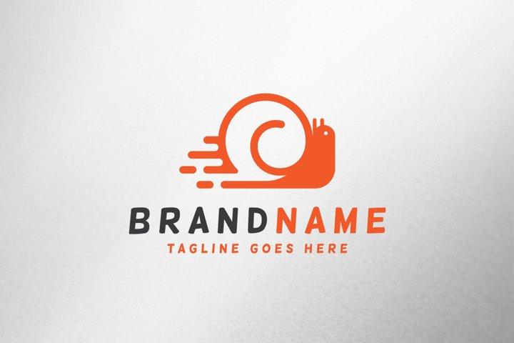 Snail Speed Logo Template