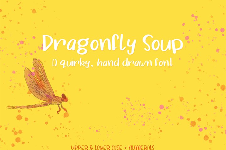 Dragonfly Soup - A quirky hand drawn font example 6