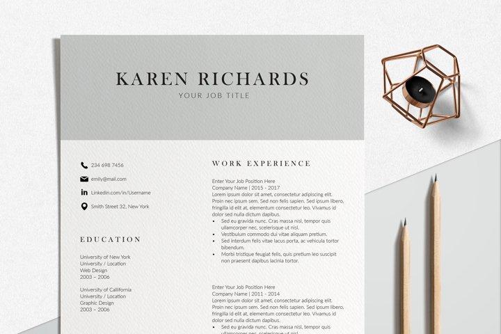 Modern Resume Format | InDesign Resume Template