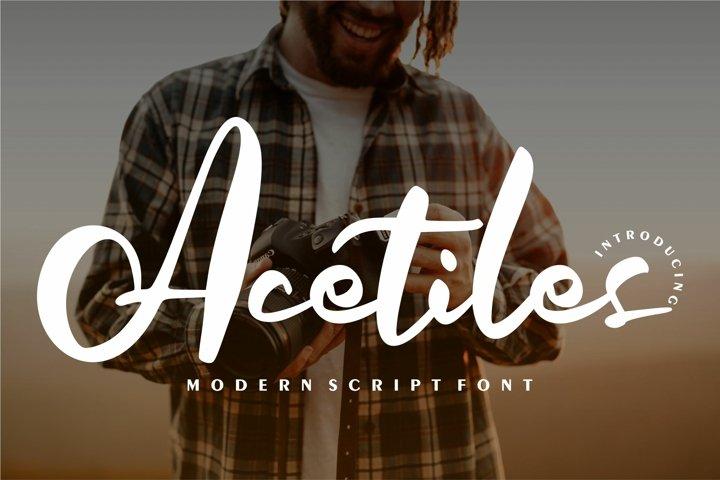 Acetiles | Modern Script Font