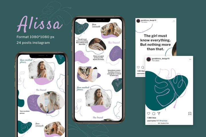 Alissa - Instagram Template