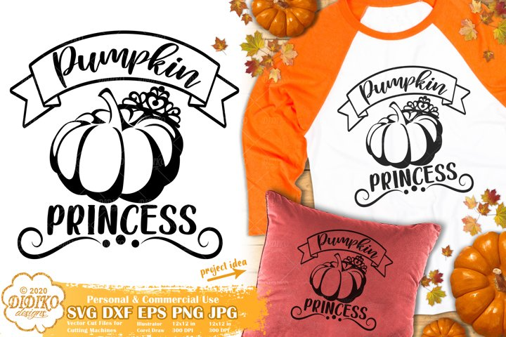 Pumpkin SVG | Thanksgiving SVG | Pumpkin Princess| Fall SVG