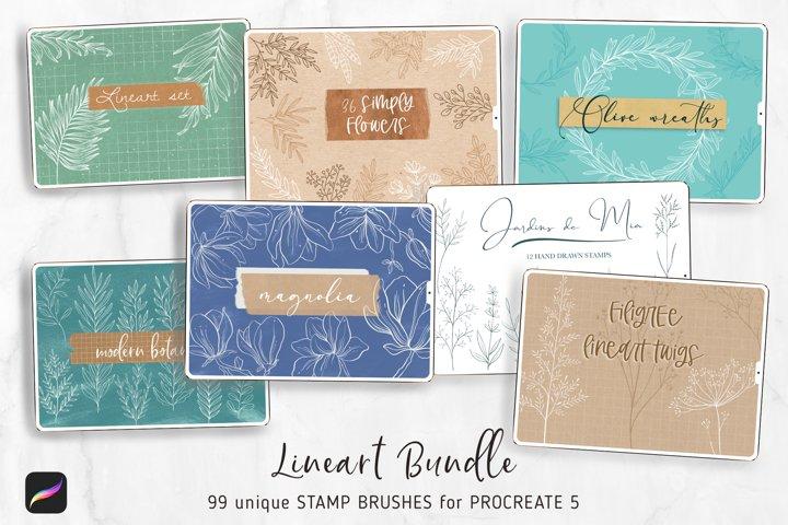 Procreate Flower Brushes BUNDLE | 99 Botanical Stamps