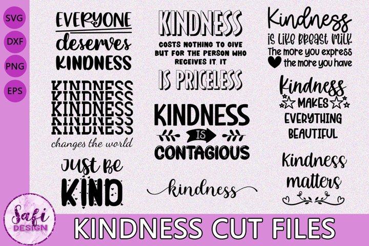 Kindness Cut File Bundle- SVG DXF EPS PNG
