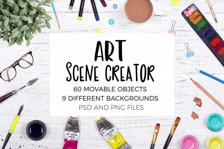 Art Scene Creator - Top View