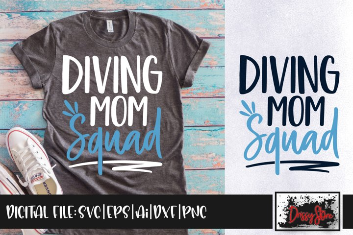 Diving Mom Squad SVG DXF Ai EPS PNG