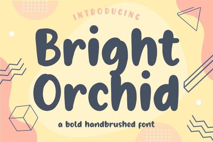 Bright Orchid Bold Handbrushed Font
