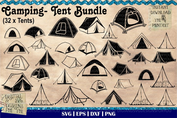 Camping Tent Bundle | Great outdoors SVG | Camping cutfiles