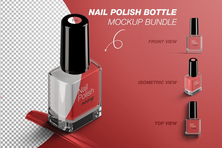 Nail Polish Bottle Mockup Bundle