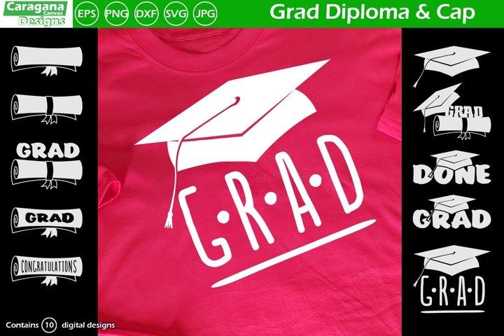 Grad Diploma & Cap