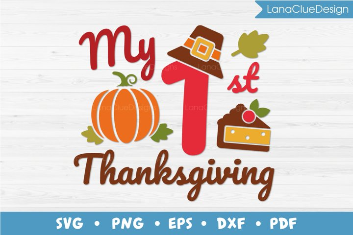 My 1st Thanksgiving SVG Cut File