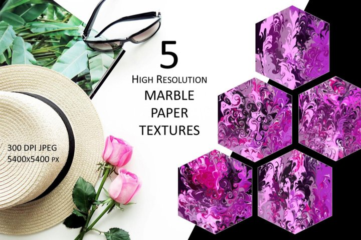 5 High Resolution MARBLE PAPER TEXTURES