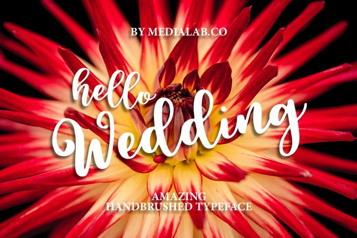 Hello Wedding - Free Font of The Week Font
