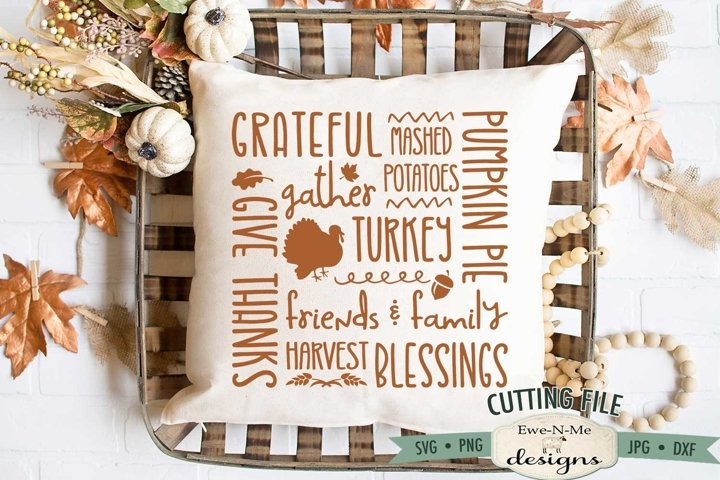 Thanksgiving Subway SVG | Thanksgiving Collage SVG