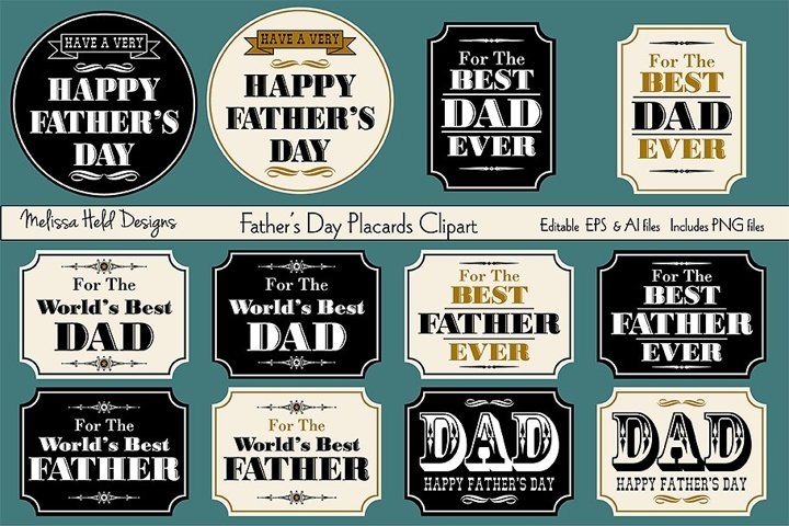 Fathers Day Placard Clipart
