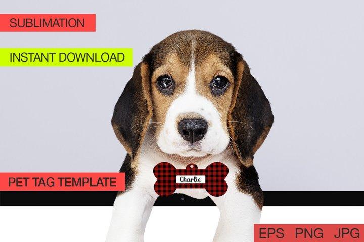 Pet Tag Plaid for Sublimation Design , Sublimation Pet Tag
