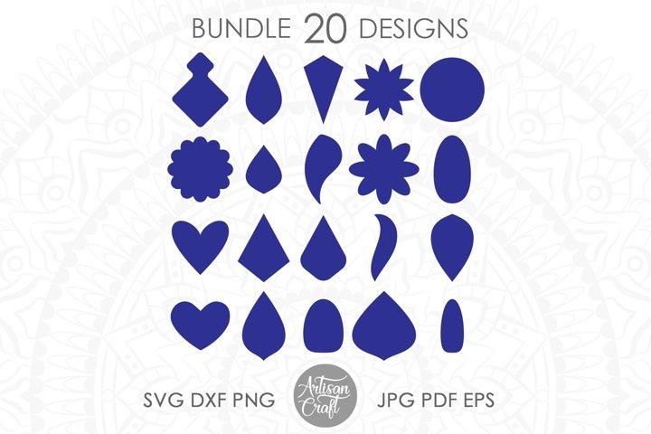 Earrings svg, Earring shapes, svg bundle, cut file
