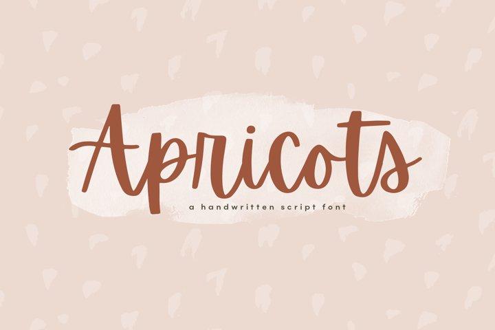 Apricots - Handwritten Script Font