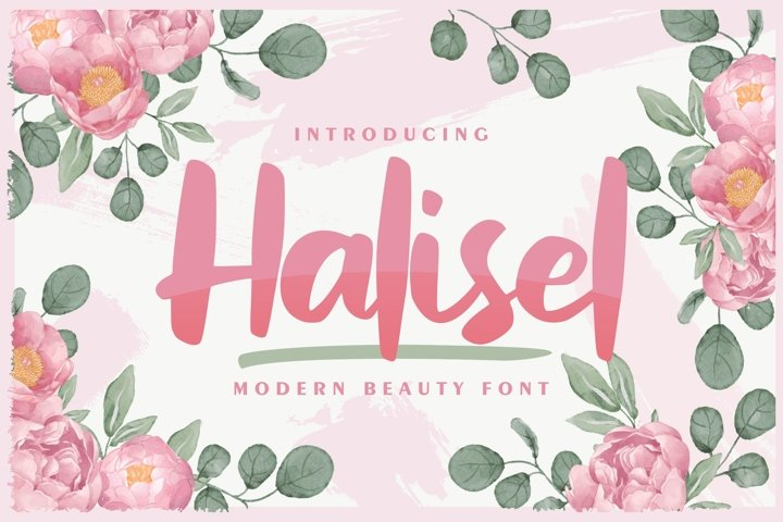 Halisel | Modern Beauty Font
