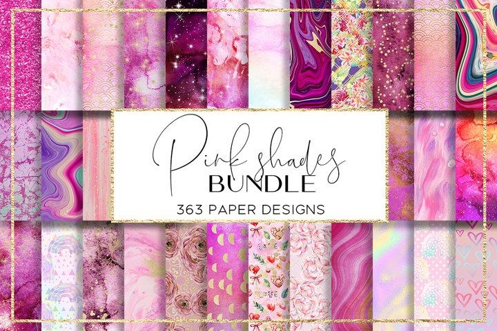 Pink Shades BUNDLE digital paper pattern